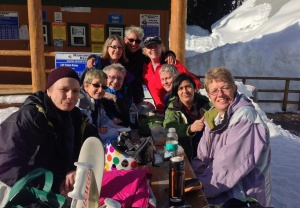 Lunch in the snow on February 2.